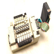 (Lot of 7) CKD 4GA139-A2N & 4GA129-A2N Solenoid Air Valves w/ Manifold+Module