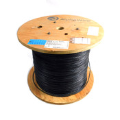 (~3200') NEW Alphawire 25012 Black 24AWG Copper 7/32 Hook-Up Wire 300V Spool