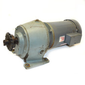 Dayton 3N087G 1-Hp 3-Ph Motor & GBE Opperman Speed-Reducer 45.7:1 Bearings TDM10