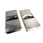 """(Lot of 2) Bobrick 28""""Lx14""""Wx4""""D Stainless Steel Hand Towel-Trashcan Receptacles"""
