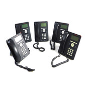 (Lot Of 5) Avaya 9620L IP Business Conference Telephones w/Stands And Handsets