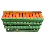 (Lot of 12) Schrack RTE25012 Relays and Phoenix Contact PLC-BSC-12DC/21 Blocks