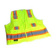 NEW Radians SV6G4X 4X-Large Surveyor Safety Vest 4XL Neon Green/Orange 8-Pockets