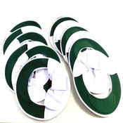 (Lot 12) NEW Occunomix Full Brim Hard Hat Shade Sun Neck 898-008 Green/White