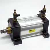 """Parker C2MAU19A Pneumatic 250 PSI Series 2MA Air Cylinder 3.25"""" Bore + Fittings"""