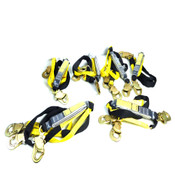(Lot Of 6) NEW Reliance 741406 Skyline Series 6' Safety Lanyards 9600lb Test