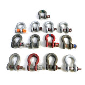 "(Lot of 13) Heavy-Duty 4-3/4 Ton 3/4"" Anchor Shackles 4-3/4T & Screw Pins 0.82"""