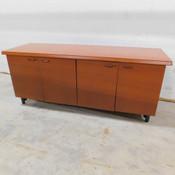 """Wooden Office Cabinet 4-Shelf 2-Cabinet 72"""" L x 24"""" W x 29"""" H"""