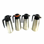 1.6L Commercial Grade Thermal Hot Beverage Carafes Silver (4)