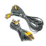 Lot of 5 Turck VBRS 4.5-2RK 4T Molded 2-Branch 3m & 1m Splitter/Cables S818