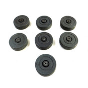 """Faultless 460S-5 5""""x1 1/4"""" Black Industrial Replacement Caster Wheels (7)"""