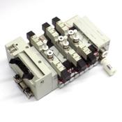 (6) CKD N4GA1-V2 Solenoid Air Valves w/ (3) 3GA1669, N4G1-T50 Terminal Block