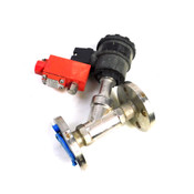 """Rotex I-37-01-H 1"""" Angle Seat Solenoid Valve Assembly w/ DN25 2-Way Flange Mount"""