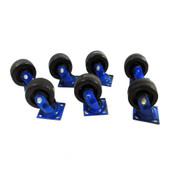 "The Fairbanks Company 322-5 5""x2"" Swivel Type Rolling Caster Wheels (7)"