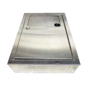 Stainless Steel Tampon Sanitary Napkin Disposal Wall Mount w/ Internal Container