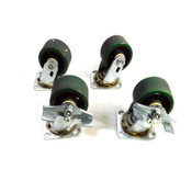 "SC Superior Casters 4"" x 2.5"" Industrial Swivel Caster Wheels (4)"