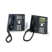 Avaya 9630G IP Phones w/700383789 Bluetooth Adapters & Wedge Stands (2)