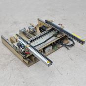 Anorad Open-Center Shuttle Belt Conveyor 64 cm Long, Motorized Width Adjustment