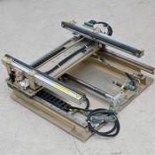 Anorad Open-Center Extending Belt Conveyor 64 cm Long Motorized Width Adjustment