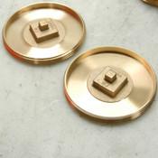 "Lot of NEW 2 Josam 58540 4"" Threaded Recessed Bronze Plug Raised Head"