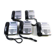 NEC IP1NA-12TXH 22B HF/Disp TEL(BK) Office Telephones w/Label (5)
