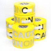 """Presco RB3103Y16 Yellow Caution Tape Roll 3""""x1000' Reflective (8)"""
