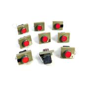 Telemecanique ZBE-101 Pushbutton Contact Blocks w/ZBV-B4 Integral LEDs (9)