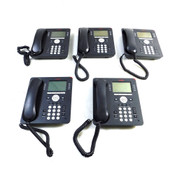 Avaya 9608 IP Business Conference Telephones 8-Lines w/ Handsets (5)