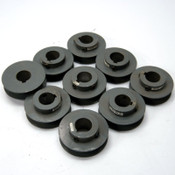 Lot of 9 BS28-1NC SSTx Single Groove Sheave Pulley 75mm O.D