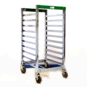 """Bliss Industries ESD Safe Mobile 10 Space Tray Cart  20-3/8"""" x 26-1/4"""" x 47-1/4"""""""