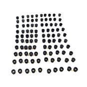 "Heyco SB-562-5 Black Snap Bushings 9/16"" Diameter (100)"