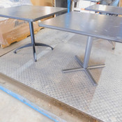 """Square Cafe Tables Steel Legs Galaxy Space Print Top 36"""" x 36"""" x 29""""H"""