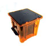 """Entegris Empak M200 8"""" Orange Silicon FOSB Wafer Box Carrier Pod"""