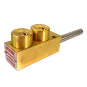 Kirk Interlock SO16-76613 3C Brass Key Interlock
