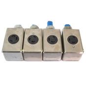 Hart-Lock L6-30 Receptacle 30A 250V + Crouse Hinds 1/2 FD1 3/4 FD2 Enclosure (4)
