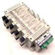 SMC EX120-SDN1 Serial Interface Unit SQ w/ (8) Solenoid Valves 24VDC Valve