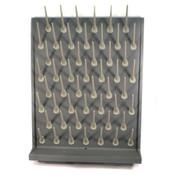Vevor Lab Drying Rack 52 Pegs Polypropylene Pegboard