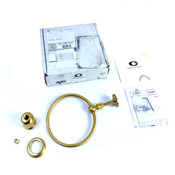 California Faucets 34-TR-LSG Satin Gold Cardiff Collection Towel Ring