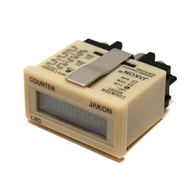 NEW Jakon L8C-LLM Electronic 8-Digit LCD Time Counters Digital Panel Lot of 4