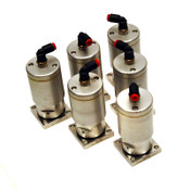 (Lot of 6) Nupro 6LV-CDA9006-P-C Pneumatic 2-Port Diaphragm Air Valves C-Seals