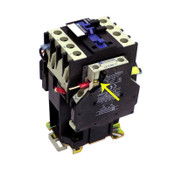 Telemecanique LP1 D25008 380VDC Contactor w/ (2) LA8DN11 Lateral Contact Blocks