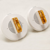 NEW (2) Cooper Wheelock ET90A-24MCC-NW Amber Speaker Stobe Fire Emergency Alarm