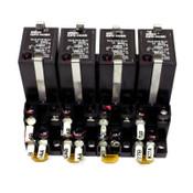 (Lot of 4) Omron G3FD-X03SN Relays 50VDC 5-24VDC 3A w/ PYF08A-E Socket Bases
