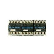 (Lot of 3) Telemecanique LP1 D25008 380VDC 40A Contactors w/LA4 DC 1U Suppressor