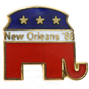 "(Lot of 168) NEW Old Stock 0.7"" New Orleans '88 Republican Elephant Pin Tie Tack"