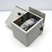 Omron S8VS-12024 Power Supply w/ Mitsubishi CP30-BA Circuit Breaker + Enclosure