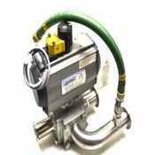 Aero 2 A2S-75-10-V551R Pneumatic Spring Return Actuator w/ CF3M Vacuum Valve
