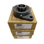 (3) PTI Silver Series UCFT206 Set Screw Locking 2-Bolt 30mm Flange Bearings