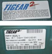 NEW Dodge 35Q05L14 Baldor Tigear-2 Worm Gear Gearbox 5:1 Speed Reducer 15-Hp