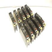 Lot of 10 General Electric GE TED113020 20A 277VAC/125VDC Circuit Breakers